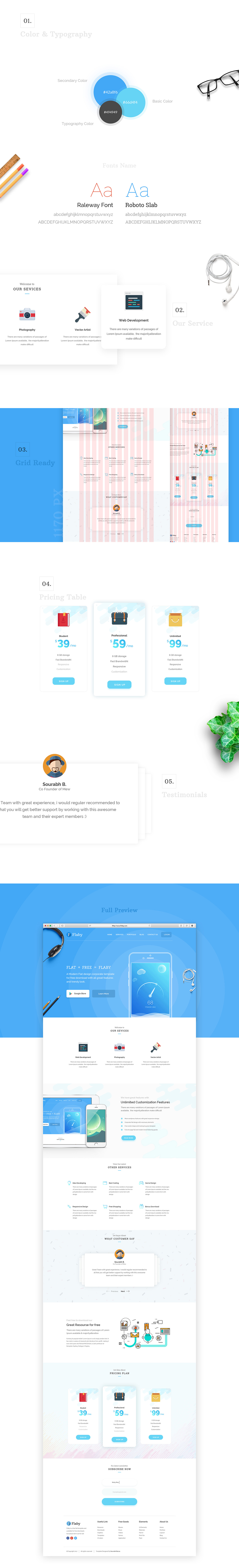 flaby-a-free-psd-flat-landing-page-full