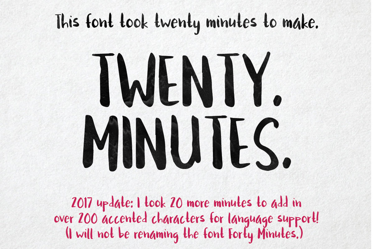 Twenty Minutes Brush Handwritten Free Font