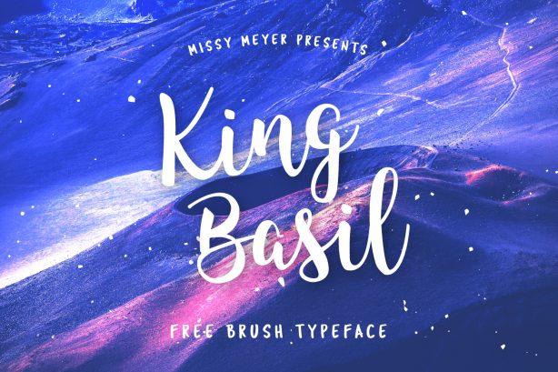 King Basil Free Brush Font