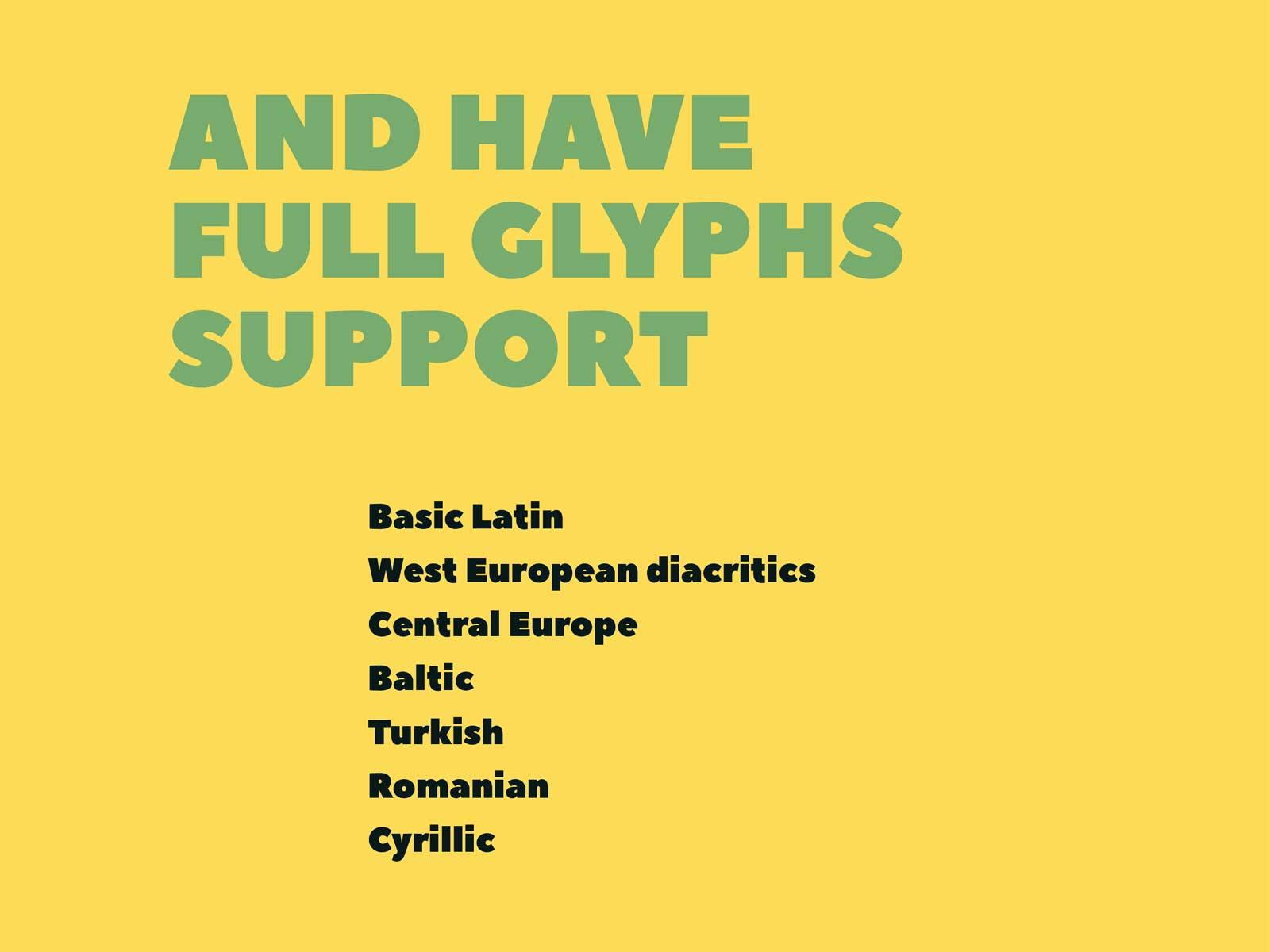 PEACE-SANS-Glyphs-Support