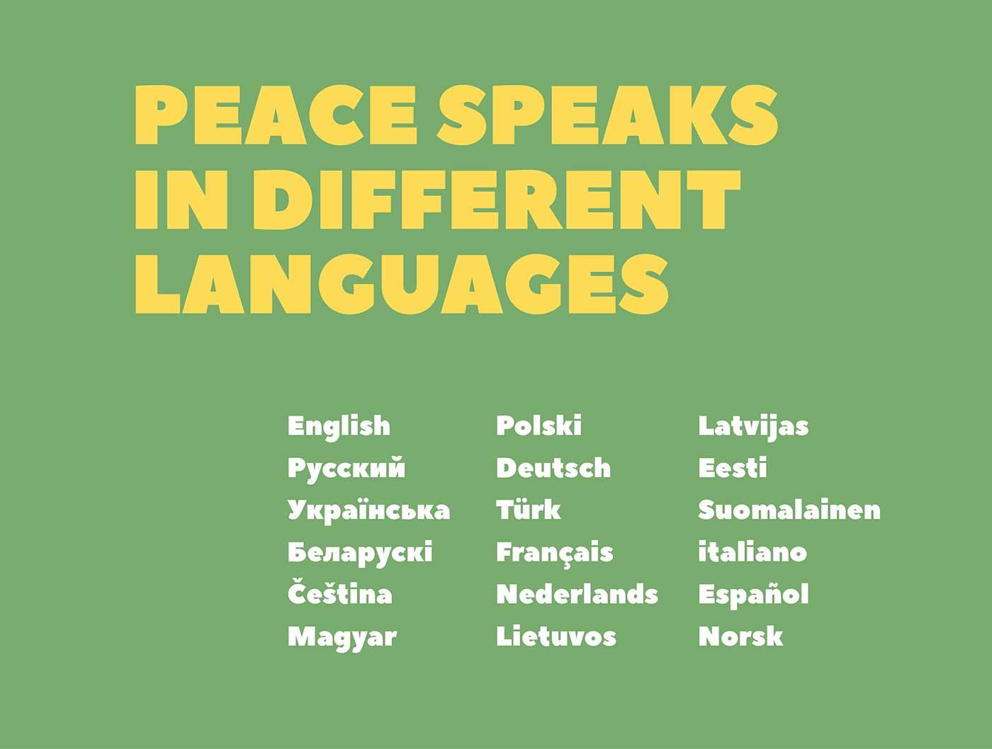 PEACE-SANS-Languages