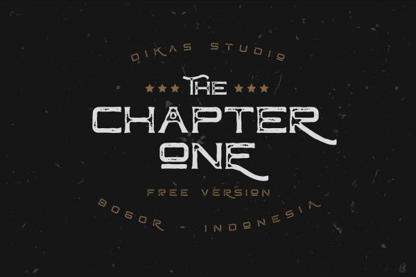 Chapter-one-font-demo-cover