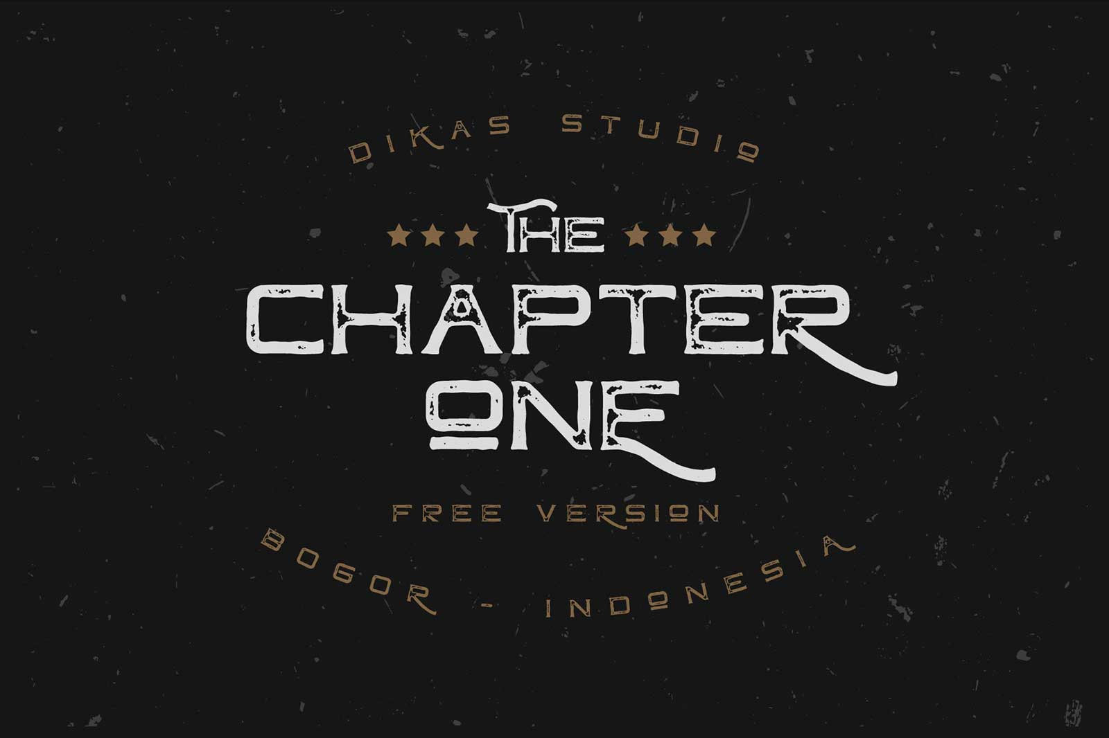 Chapter One Font Demo Cover