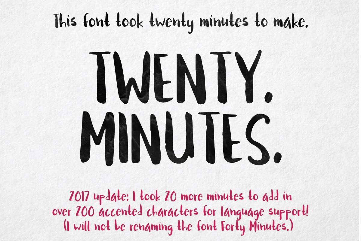 Twenty Minutes Brush Handwritten Free Font