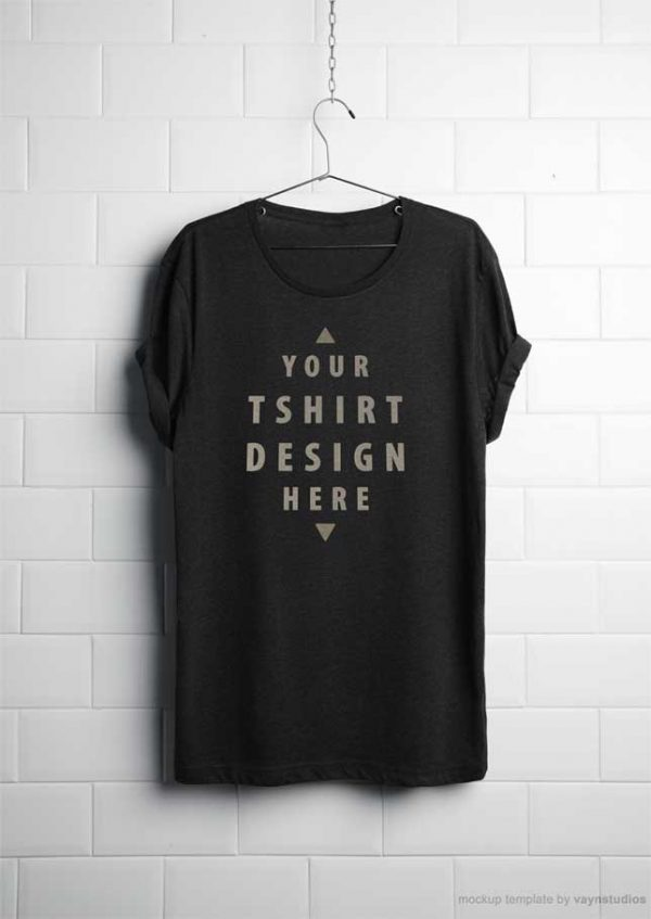 Realistic-hanging-t-shirt-free-psd-mockup-cover