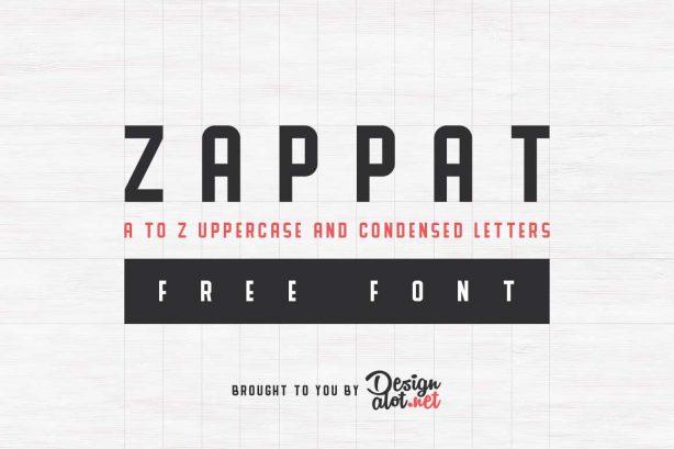 Zappat Display Free Font