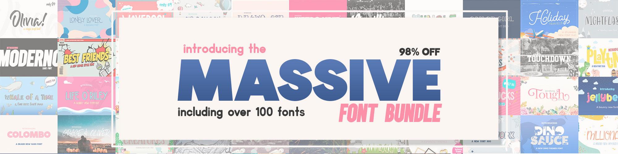 Massive Font Bundle Preview