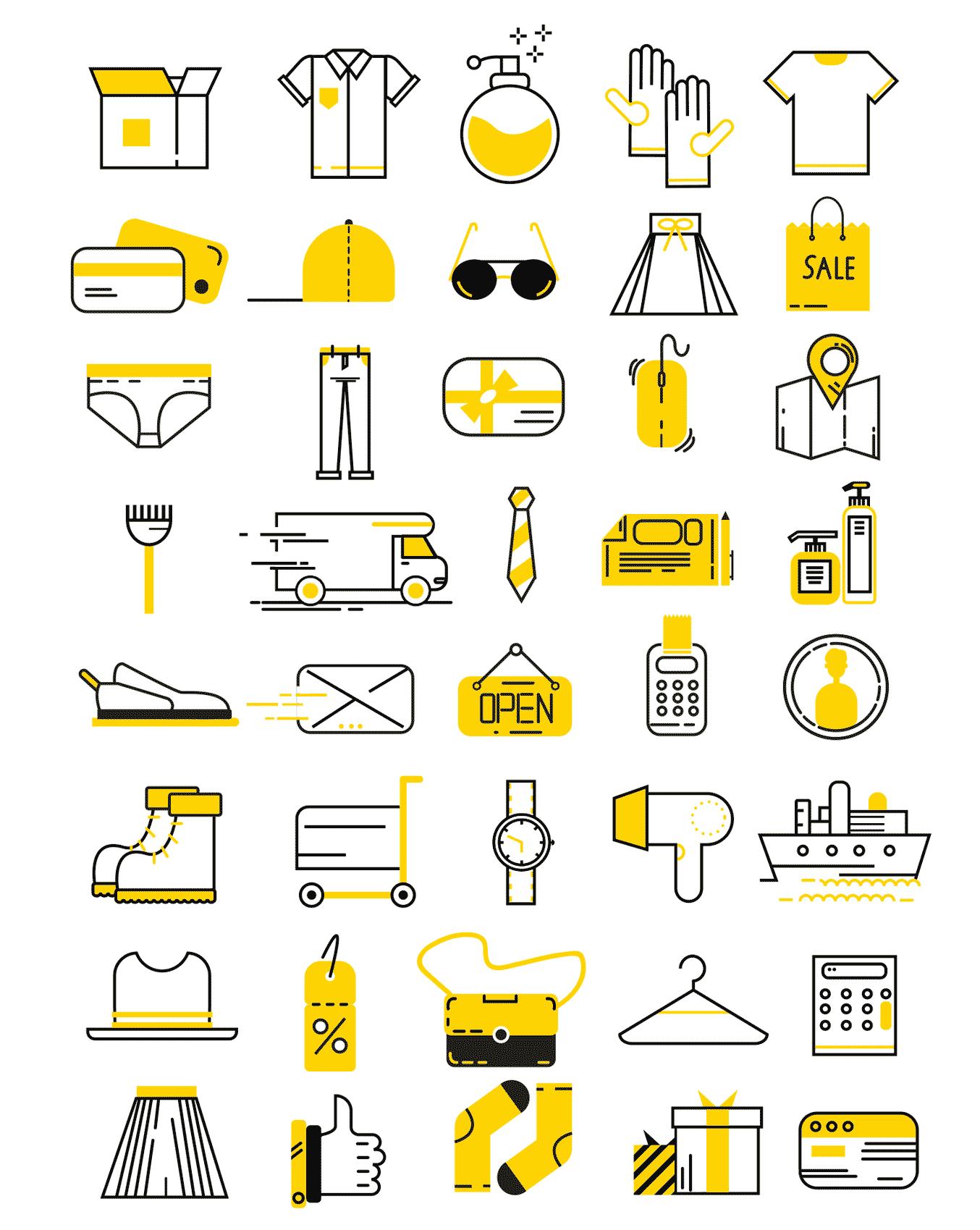 40-modern-flat-clothing-shopping-vector-icons-full-set