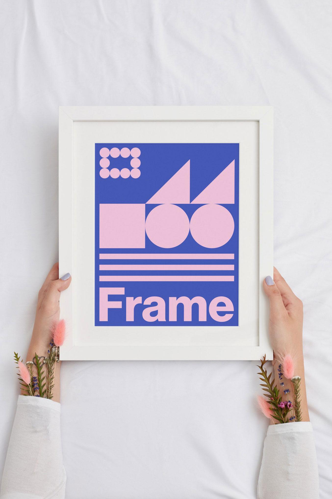 Free Handheld Picture Frame Mockup