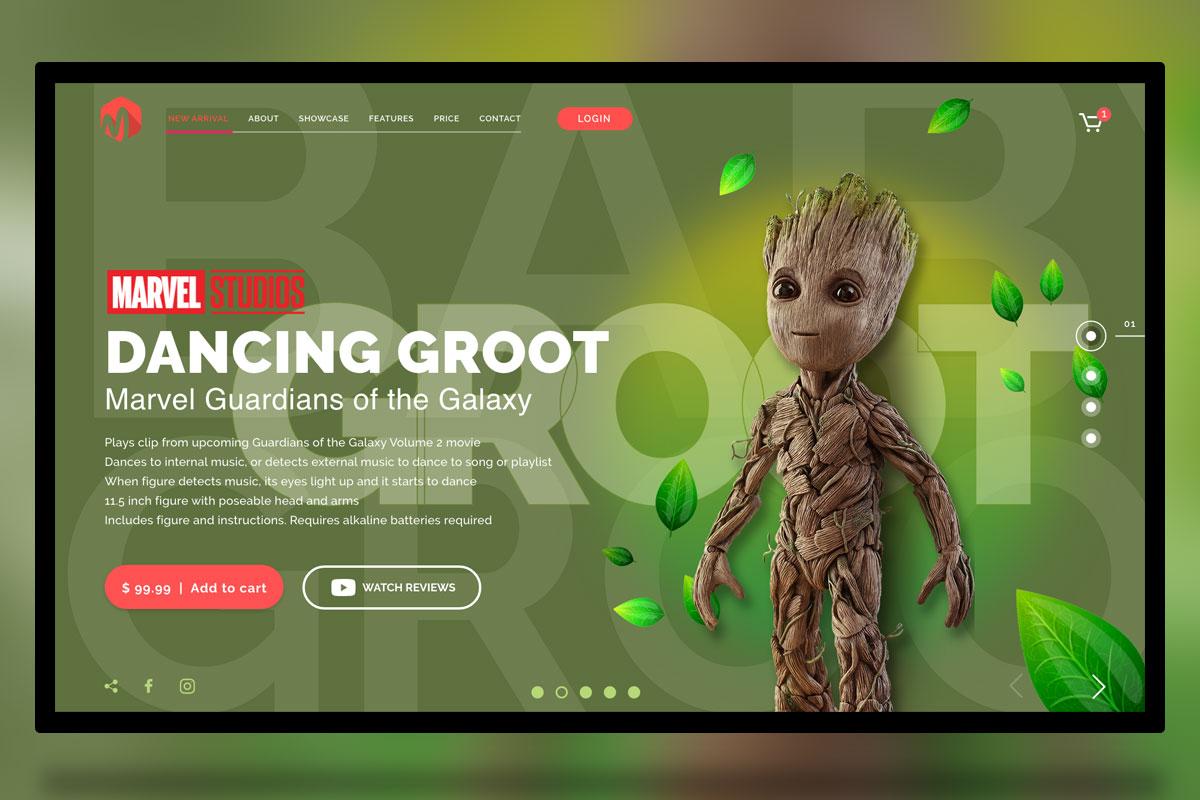 Groot-landing-page-freebie-adobe-xd-jpg